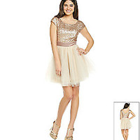 Product: Trixxi® Juniors' Gold Sequin Party Dress