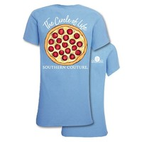 Southern Couture Preppy Circle Of Life Pizza T-Shirt