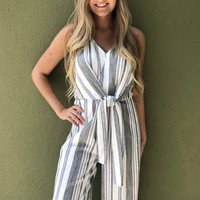 Love Me Jumpsuit - White/Grey