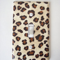 Leopard Animal Print Single Toggle Switch Plate, wall decor