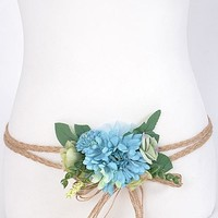 Boho Wedding Flower Belts