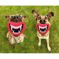 New Durable Safe Funny Squeak Dog Toys Devil's Lip Sound Dog Playing/Chewing Puppy Make The Dog Happy