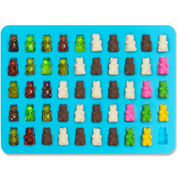 Lucentee® Gummy Bears Molds for Hard Candy & Chocolate Making- Silicone Soap and Ice Cube Trays- Party Buffet, Baking, Wedding Favor Maker & Baby Shower Supplies - Novelty / Silly Shapes - 50 Cavity