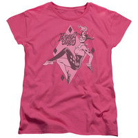 DC/HARLEY QUINN - S/S WOMEN'S TEE - HOT PINK -