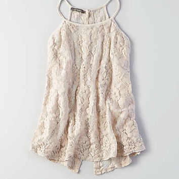 Don't Ask Why Lace Slip Top, Chalk