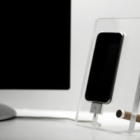 Floating iPhone 4 4s charging station phone dock great gift