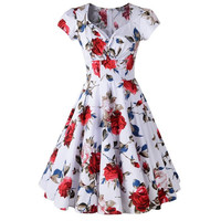 Sweetheart Floral Fit & Flare Dress