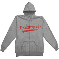 Paramore Men's  Zippered Hooded Sweatshirt Grey Rockabilia