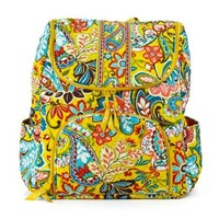 Vera Bradley Double Zip Backpack in Provencal