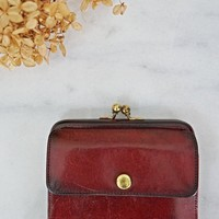 Vintage Oxblood  Leather Coin Purse