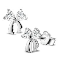 DCCK0OQ 925 Silver Butterfly Heart Korean Luxury Jewelry Earrings [8740028423]