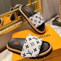 LOUIS VUITTON LV Fashion casual shoes and slippers Shoes White&Black
