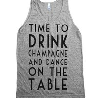 Time To Drink Champagne-Unisex Athletic Grey Tank