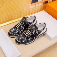 Versace Black Gold White Sneakers - Best Deal Online