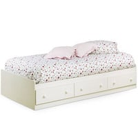 Walmart: South Shore Summer Breeze Twin Mates Bed, White Wash