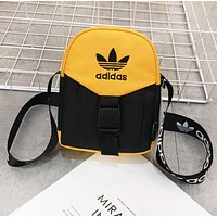 Adidas New fashion embroidery letter leaf couple shoulder bag Yellow
