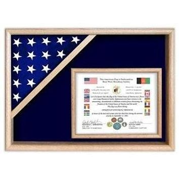 Flag Display Cases - Certificate Flag Shadow Box,Made in USA
