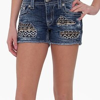 Miss Me Southwestern Stretch Short