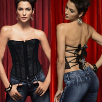 fashion Women sexy lingerie Underwear corsets Shapewear Gothic Overbust waistband Bustier Body Shaper = 1704136324