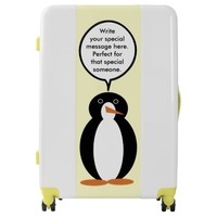 A Mr. Penguin Birthday Suit Luggage