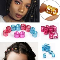 Colorful Adjustable Dreadlock Hair Rings