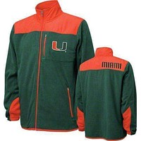 Miami Hurricanes full zip jacket Genuine Stuff new with tags NCAA Canes NWT ACC