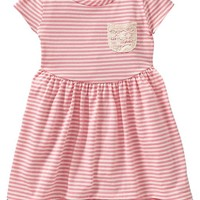 Striped Jersey Dresses for Baby