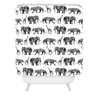 Sharon Turner Graphic Zoo Shower Curtain