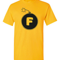 F BOMB Don't Be Dropping F Bombs Printed Graphic Tee Cool T Shirt For ALL Ages Unisex Kids Ladiesto 4XL all Colors