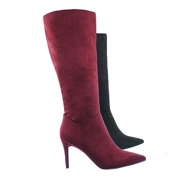 Tania High Heel Dress Boots - Women Pointed Toe Knee High Shafts