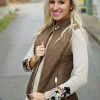 Winter's Tale Quilted Vest (Brown)