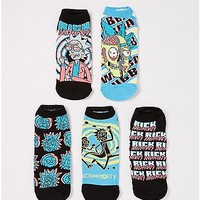 Trippy Rick and Morty No Show Socks - 5 Pair - Spencer's