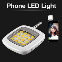 Outdoor Camping Hiking LED Travel Kits Front Camera Phone Flash Light Support Multiple Photography Mini Selfie Sync Light Flash