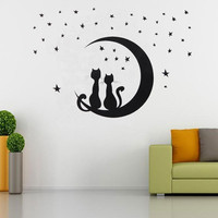 DIY Removable Star Cat Wall Sticker Art Decoration Decal Mural Home Room Decor = 1929773060