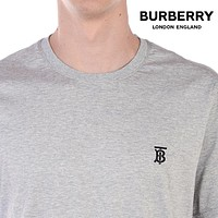 BURBERRY Fashion Men Women Casual Classic Letter Embroidery T-Shirt Top
