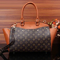 Louis Vuitton LV Women Shopping Bag Leather Satchel Shoulder Bag Tote Handbag Crossbody
