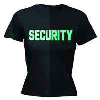 123t USA Women's Glow In The Dark Security Front & Back Workwear T-Shirt