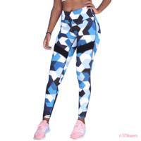 Workout Blue Camouflage Leggings