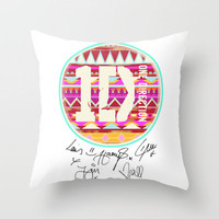 one direction swag Throw Pillow by Taylor St. Claire   Society6