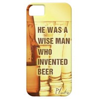 Funny beer quote Plato quote iPhone5 case