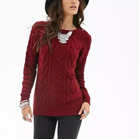 Solid Long-Sleeve Knitted Sweater