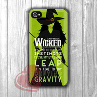 Wicked Musical Broadway Quote Green - zzd for  iPhone 4/4S/5/5S/5C/6/6+s,Samsung S3/S4/S5/S6 Regular/S6 Edge,Samsung Note 3/4