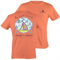 """Simply Southern """"Life Is Good"""" Tee - Coral"""
