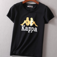 "Women Fashion ""KAPPA"" Print Show Thin T-Shirt Top Tee"