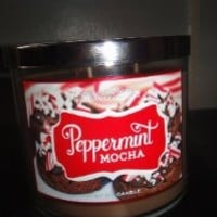 Bath and Body Works Peppermint Mocha 3 Wick Candle 2012 Design 14.5 Oz
