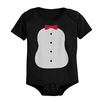 Penguin Costume Baby Bodysuits Black Infant Snap On Bodysuits Perfect for Halloween