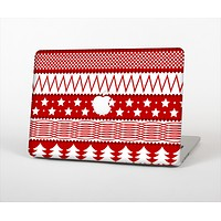 """The Red and White Christmas Pattern Skin Set for the Apple MacBook Pro 15"""" with Retina Display"""