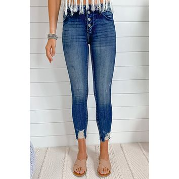 Birds Of A Feather Vintage Wash Skinny Jeans