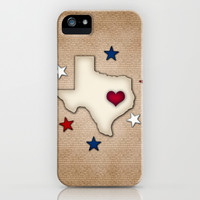 Texas Red Heart iPhone & iPod Case by Tees2go
