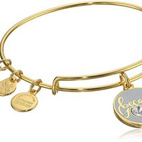 Alex and Ani Because I Love You With Swarovski Crystal Bangle Bracelet
